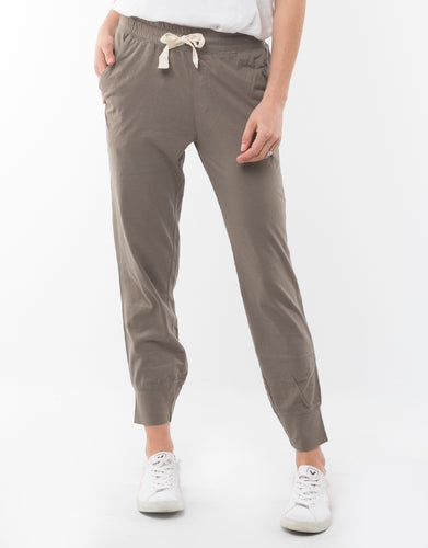Shop Plus Size Elm Fundamentals Wash Out Lounge Pants - Khaki - Basic State Australia