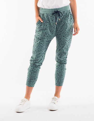 Elm Clothing In The Wild Pant - Sage Green - Elm Clothing Lounge Pants Elm Drop Crotch Pants Basic State Australia