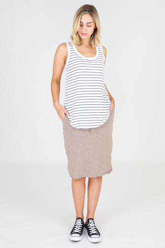 Plus Size || 3rd Story The Label Fifi Tank - Stripe