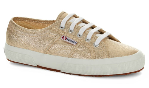 Superga 2750 Gold Lame Superga Classic Tennis Shoe Canvas Sneakers gold Superga2750 Lame gold Basic State Style Traders Silver Tennis Shoe Runners jogger trainers