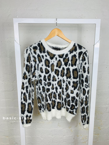 Greta Soft Knit Sweater || Leopard Print