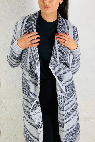 Gysette Waterfall Cardigan - Long Oversized Cardigan - Basic State Style Traders