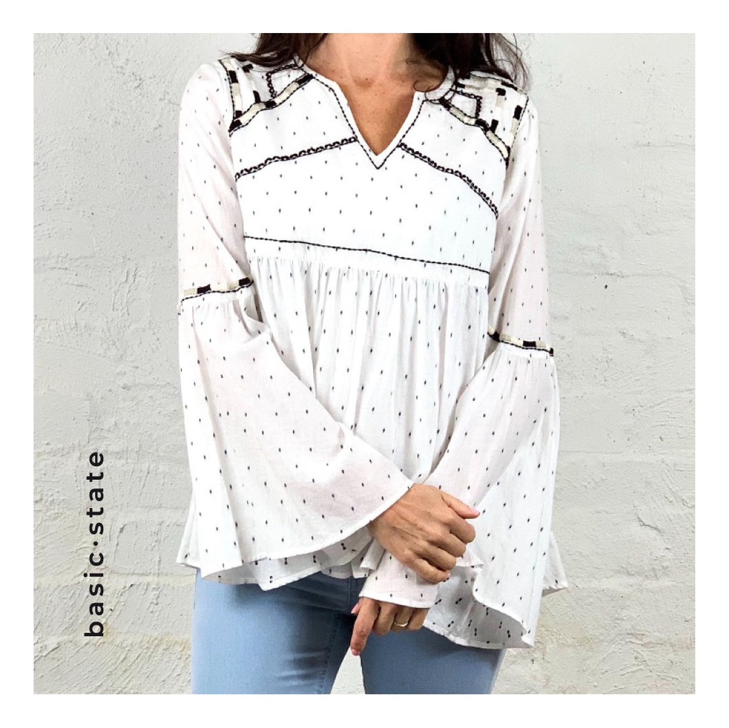 Gysette Sale Boho Top Boho Blouse Shadi Top Basic State