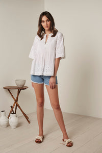 GYSETTE AIRE TOP SHIRT BOHO WHITE basic state GYSETTE