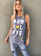 HAMMILL AND CO MORE LOVE TANK GREY BLUE BASIC STATE HAMMILLL AND CO STOCKIST - MORE LOVE TANK BLUE MARLE