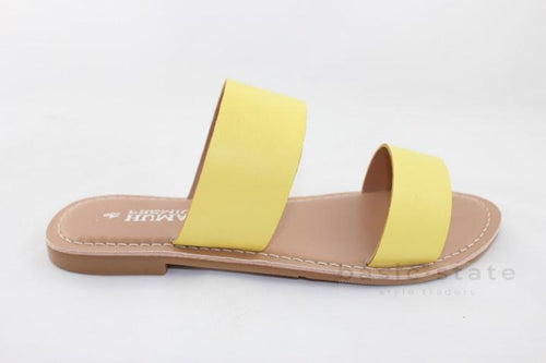 Human Shoes Dakota Lemon Slides - Dakota Yellow Slides - Basic State