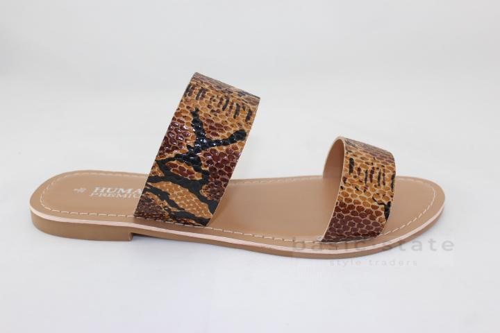 Human Shoes Python Print Leather Shoes Human Shoes Leather Dakota Slides - Snake Print Slides - Basic State Australia