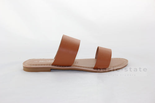 Human Shoes Dakota Tan Leather Shoes Dakota Tan Leather Slides - Basic State Australia