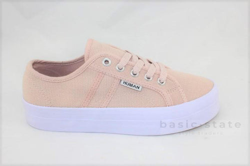 Lift Canvas Flatform Sneakers || Blush