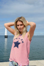 HAMMILL AND CO STAR TANK RED WHITE STRIPE TANK BASIC STATE
