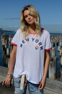 New York Ringer Tee Hammill and Co Basic State