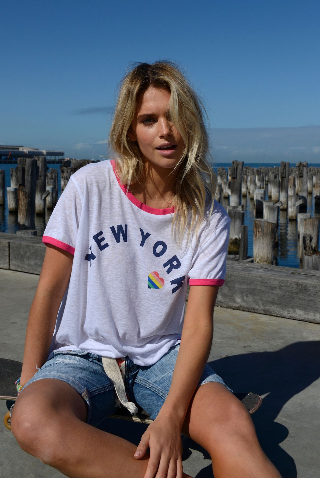 Cat Hammill New York Ringer Tee Hammill and Co Basic State