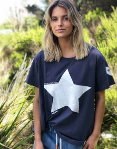 Hammill and co Navy Tee with White Star Hammill and co Oversized Hammill and Co Heritage Tee Basic State Hammill and Co Stockist Shop Hammill and co online Australia