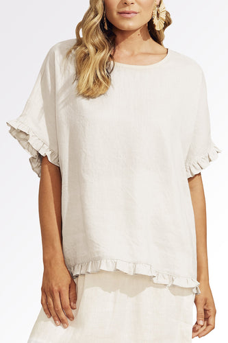 Haven Clothing - Majorca Frill Top White - Haven Co Stockist - Shop Haven Clothing Sale