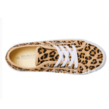 Human Leather Shoes Leopard Print Leather Flatform Sole - Basic State