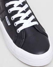 Cass Leather Sneakers - Black Leather - Elevated Sole - Basic State Australia