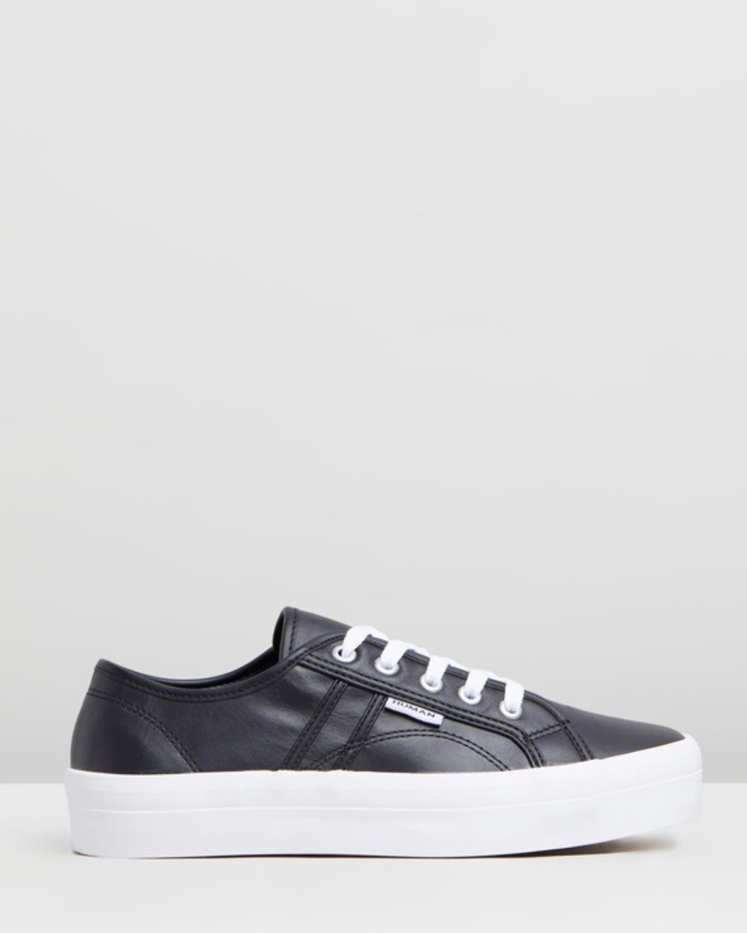 Cass Leather Sneakers - Black Leather - Basic State Australia