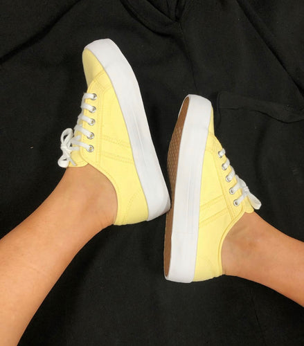 Buy Human Shoes Lift Lemon Flatform Sneakers - Yellow Sneakers with Thicker Sole - Basic State Australia - AfterPay Store