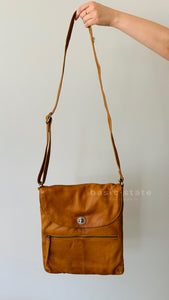 Rugged Hide Bianca Cross Body Leather Bag Bianca Ladies Bag Tan Leather Bianca Rugged Hide - Basic State Australia
