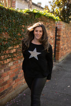 Plus Size || Shona Star Top - Black
