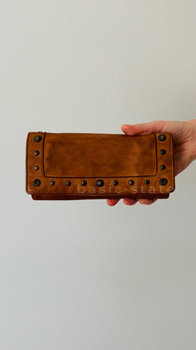 Sable Studded Leather Wallet Rugged Hide from Basic State