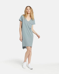 Jac & Mooki Tshirt Dress Helena Dress Basic State Sage shirt Dress