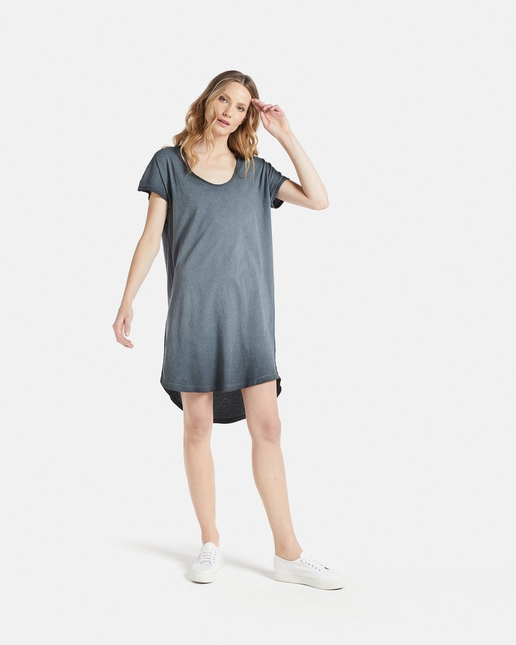 Jac & Mooki Naomi Dress - Tshirt Dress - Colour Fade Tshirt Dress - Basic State - Loose fit - Relaxed Fit