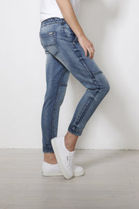 Jac and Mooki Denim Pants, Denim Joggers, Jeans, Elasticated Waist Basic State