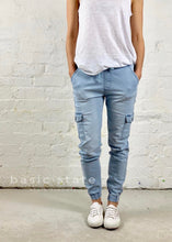 Joey Joggers Light Blue - Basic State Australia - Light Blue Jeans - Comfy Denim Pants