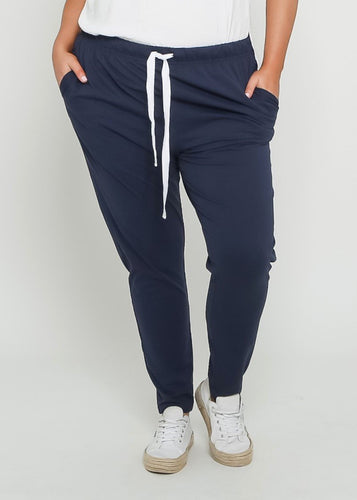 Lainie Lounge Pants - Navy - Plus Size