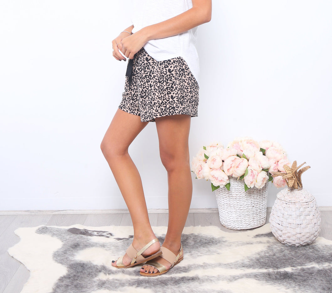 Animal Print Shorts Basic State