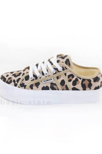Thick Sole Canvas Leopard Print Shoes Leopard Print Runners Thick sole Leopard Print Shoes - Lift Leopard Print Shoes - Basic State