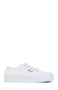 Buy White Canvas Shoes with Thick Sole - Lift Canvas White Shoe with Thick Sole - Elevated Sole Sneakers in White Canvas - Classic Tennis Shoe - White Superga - Basic State