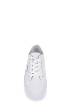 Lift Canvas White Shoe with Thick Sole - Elevated Sole Sneakers in White Canvas - Classic Tennis Shoe - White Superga - Basic State