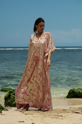 Miss June || Bodhi Kaftan Dress - Pink