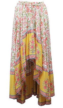 Miss June Willow Skirt in Yellow basic state Australia