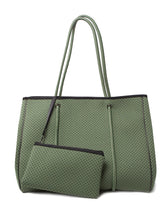 Neoprene Bag Olive Green, Green Prene Bag, Beach Bag, Large Carry On Bag Basic state