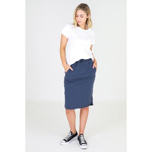 3rd Story Olivia Skirt Indigo blue skirt, Olivia Knee Length skirt Basic state