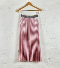 Running w Scissors Pleated Pink Blush Midi Skirt - Basic State