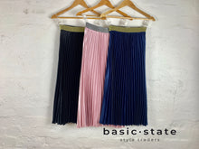 Shop Pleated Skirts Pleated Metalic Skirt Black Pleated Skirt Pink Pleated Skirt Navy Pleated Skirt Basic State