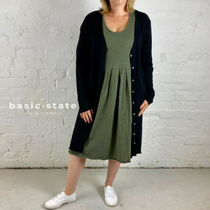 Plus Size 3rd Story Clothing Evelyn Dress Rosebud Cardigan Basic State Curve