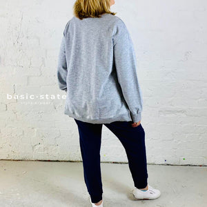 PLUS SIZE 3RD STORY THIRD STORY ULVERSTONE JUMPER SWEATER grey marle basic state
