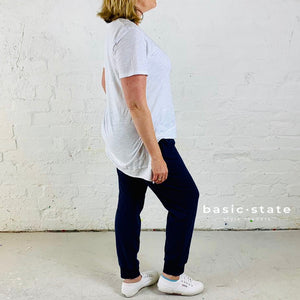 Plus size Ladies Tshirt Basic State Curve 3rd Story Brighton Tee Plus Size Tshirt White Tee Shirt