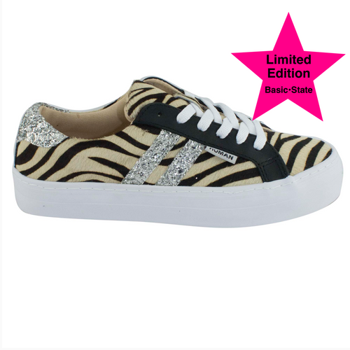 Leather Sneakers Human Premium Stockist Human Premium Sale Human premium Shoe Stockist Basic State Prospect Leather Zebra Sneakers Prospect Leather Shoes Zebra print sneakers