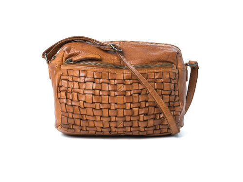Rugged Hide - 'Adelaide' Woven Leather Shoulder Bag