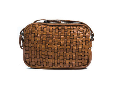 Rugged Hide Divya Woven Cross body Bag - Leather Woven Bag - Basic State Rugged Hide Stockist