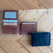 Tan Leather Wallet - Mens Leather Wallet Tan, Mens Leather Wallet Black, Mens Leather Wallet Rugged Hide - Basic State