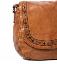 Rugged Hide - 'Poe' Studded Leather Shoulder Bag