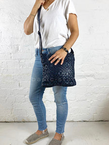Rugged Hide Zara Bag in Blue Leather Shop Rugged Hide Leather Cross Body Bag Basic STate