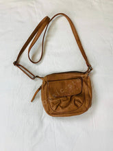 Buy Celia Leather Bag Cross Body Leather Bag Soft Tan Leather Bag Front of Celia Cross Body Bag